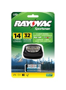 Rayovac 5 LED 3AAA Headlight + Free Shipping