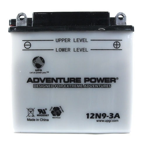12N9-3A 12 Volt 9 Amp Hrs Conventional Power Sport Battery