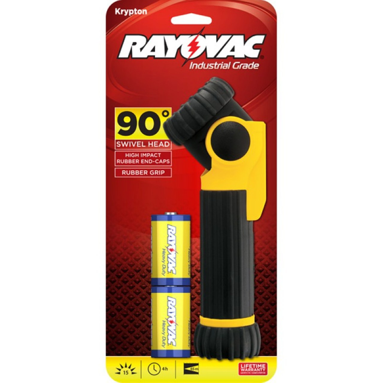 Rayovac Industrial 2D Swivel Flashlight With D Batteries ISL2D-B + Free Shipping