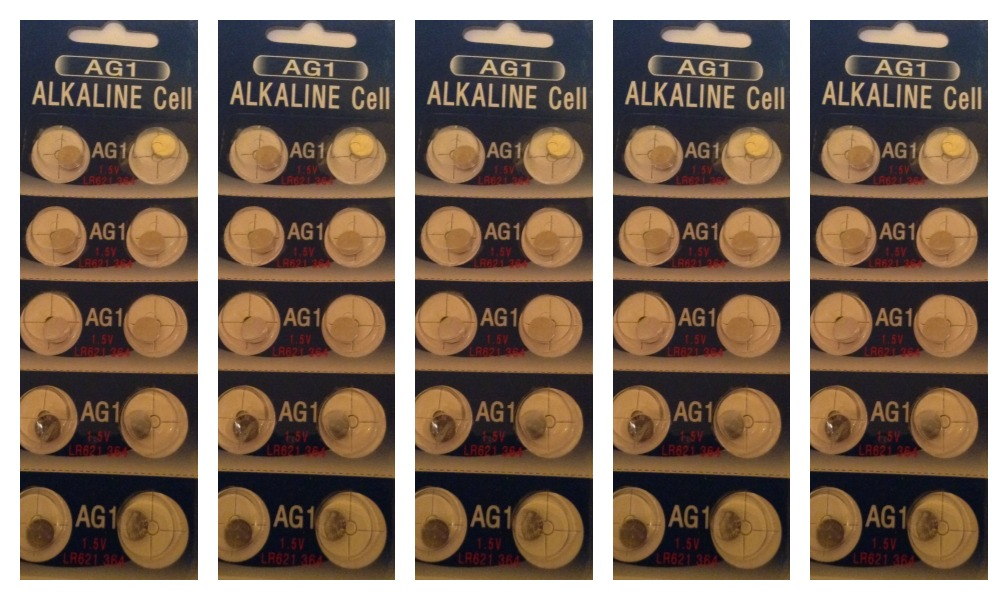 AG1 / LR621 Alkaline Button Watch Battery 1.5V - 50 Pack + FREE SHIPPING!