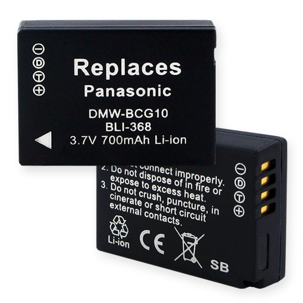 PANASONIC DMW-BCG10 LI-ION 700mAh Video Battery