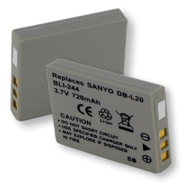 SANYO SL20 LI-ION 720mAh Digital Battery
