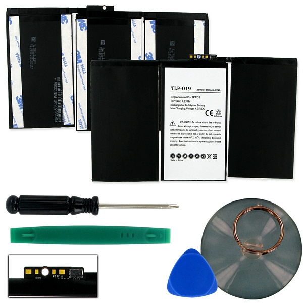 APPLE IPAD 2 616-0572 616-0561 3.8V 6500mAh LI-POL BATT (T) + FREE SHIPPING