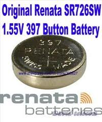 Renata 397/396 - SR726 Silver Oxide Button Battery 1.55V
