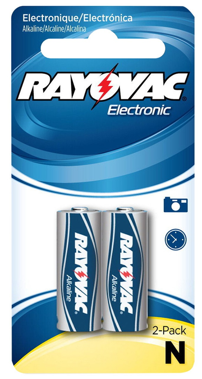 Rayovac E90 N Size 1.5V LR1 - 2 Pack On Retail Card + FREE SHIPPING!