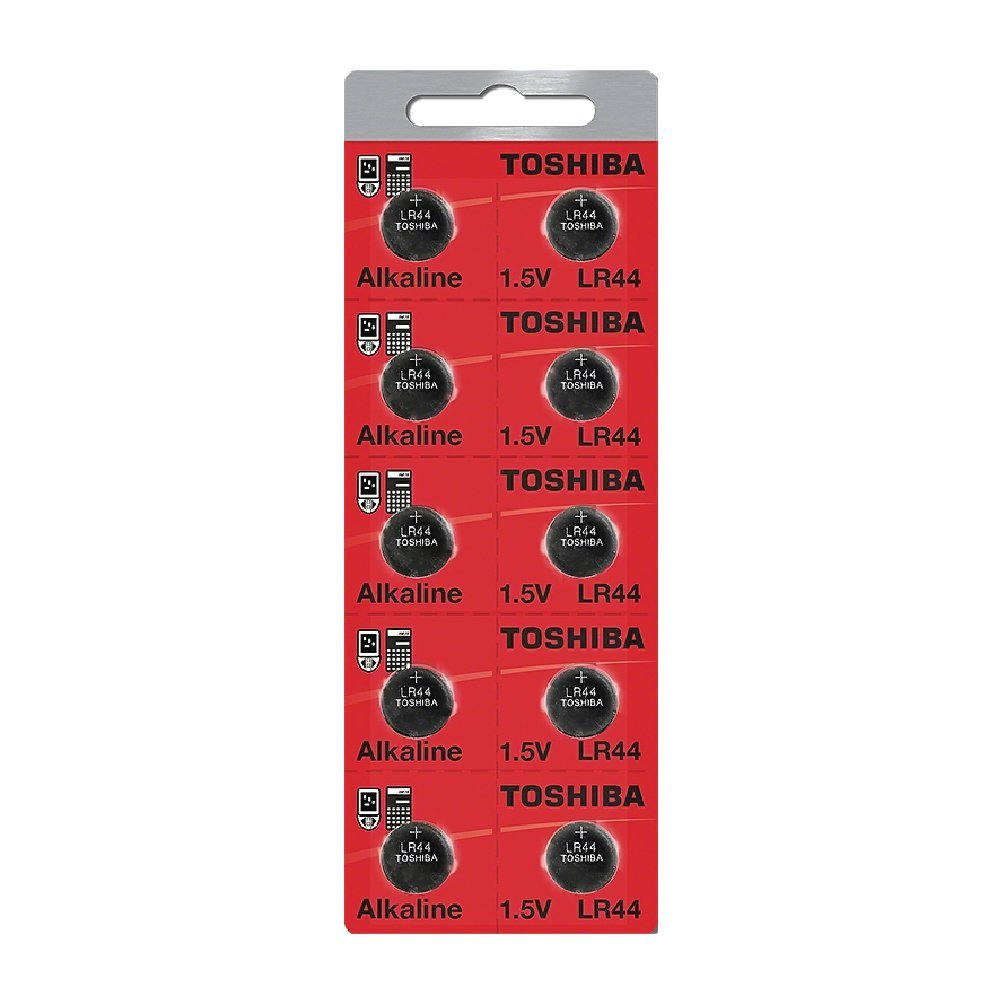Toshiba LR44 - A76 Alkaline Button Battery 1.5V - 10 Pack + FREE SHIPPING!