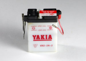 6 Volt 2 AMP Motorcycle And Power Sport Battery (6N2-2A-2)