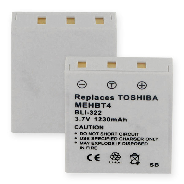 TOSHIBA MEHBT4 LI-ION 1230mAh Video Battery