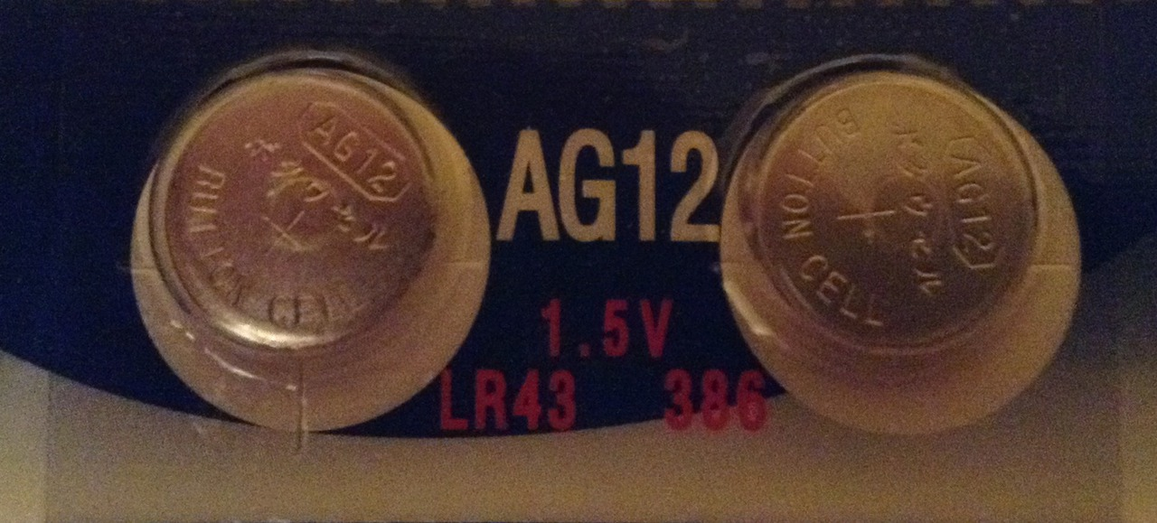 AG12 / LR43 Alkaline Button Watch Battery 1.5V - 2 Pack - FREE SHIPPING