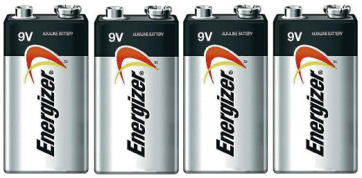 Energizer Max 9V Alkaline 522VP Batteries - 4 Pack -  FREE SHIPPING!
