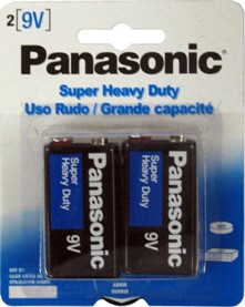 Panasonic Super Heavy Duty 9V - 2 Pack Retail