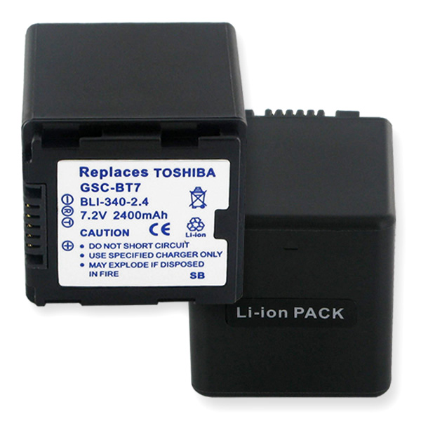 TOSHIBA GSC-BT7 LI-ION 2400mAh Video Battery