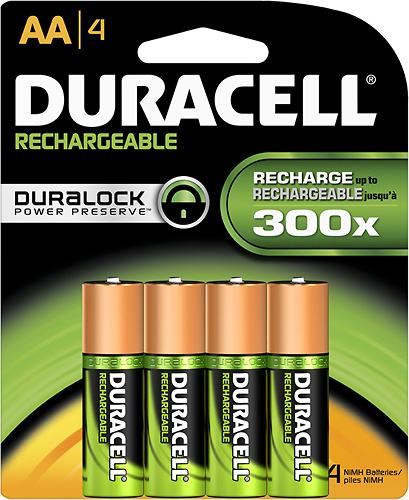 Duracell AA Rechargeable NiMH Batteries 1950mAH 4 Pack Retail + FREE SHIPPING!