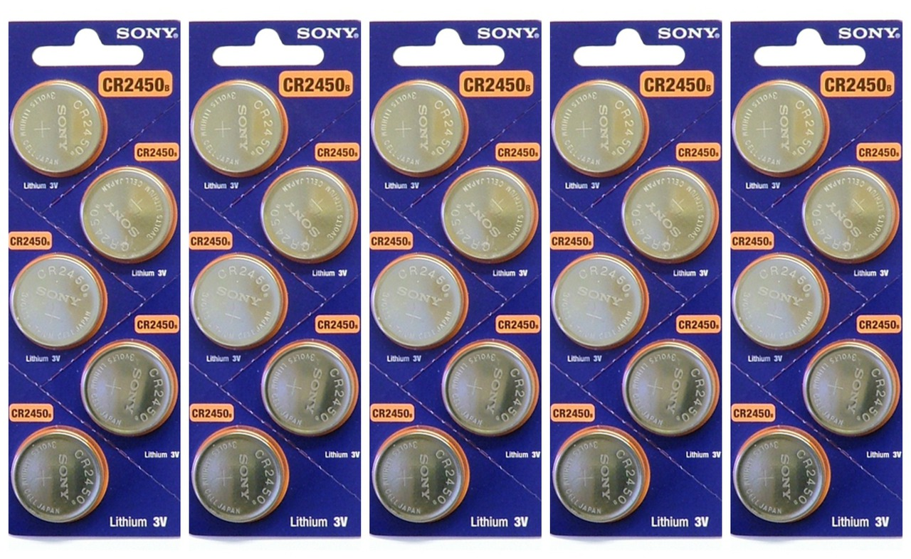 Sony CR2450 3V Lithium Coin Battery - 25 Pack - FREE SHIPPING