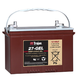 Trojan Gel Deep Cycle  Battery 12V 91Ah Group Size 27