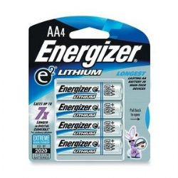 Energizer L91 AA Lithium Batteries 1.5V - 96 Pack (24 Packages With 4 Batteries Each) FREE SHIPPING!