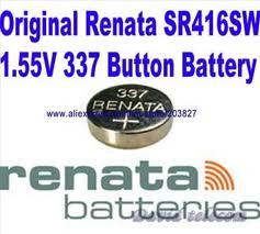 Renata 337 - SR416 Silver Oxide Button Battery 1.55V