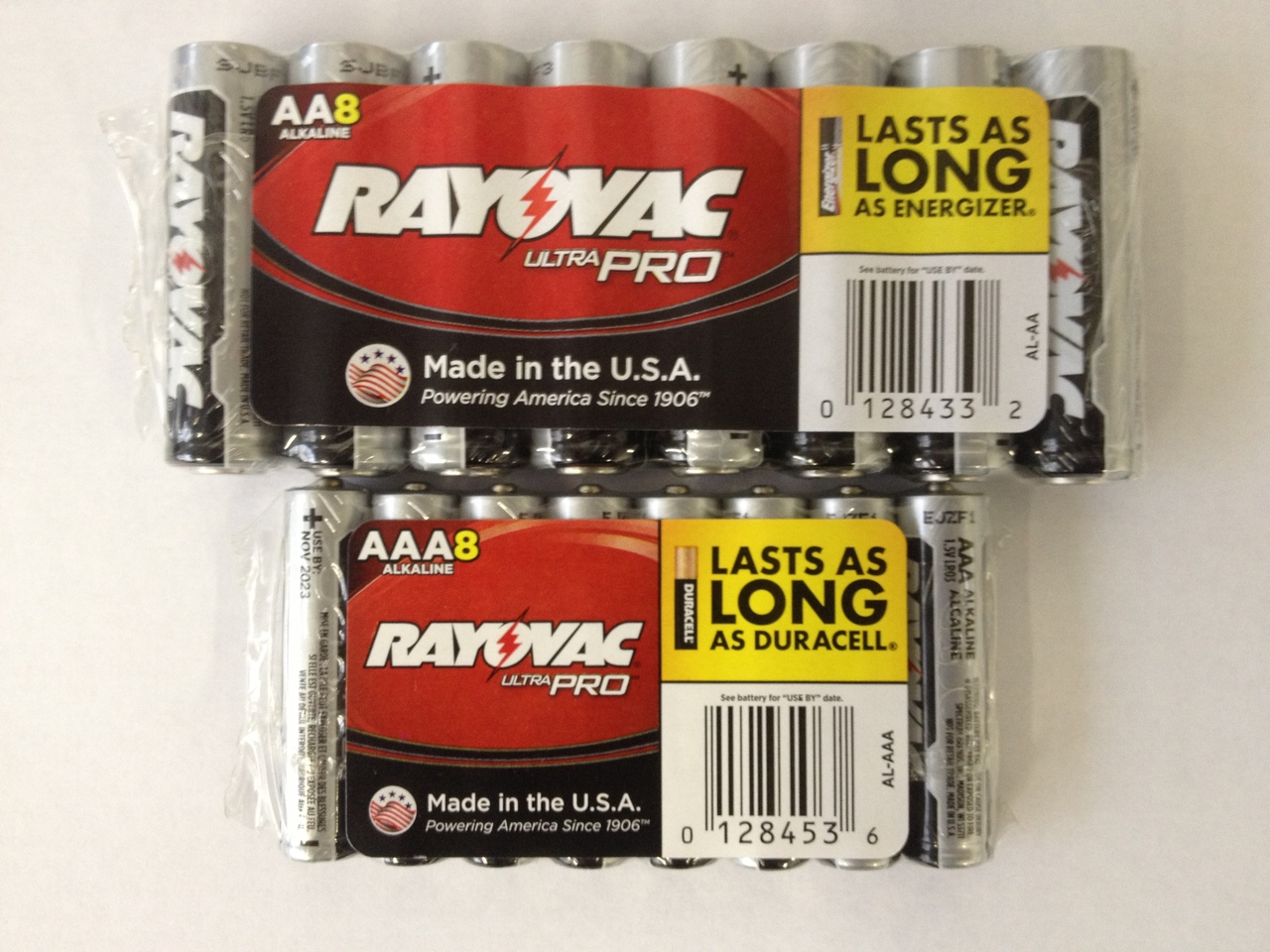 16 Piece Combo Pack - Rayovac UltraPRO Alkaline 8 AAA Batteries And 8 AA Batteries + FREE SHIPPING!