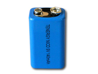 9V NiCad 140mAh High Capacity Rechargeable Battery