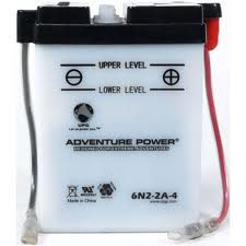 6N2-2A 6 Volt 2 Amp Hrs Conventional Power Sport Battery