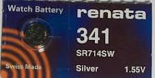Renata 341 - SR714 Silver Oxide Button Battery 1.55V - 2 Pack + FREE SHIPPING!