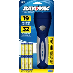 Rayovac Value Bright LED Gel Grip Flashlight With 6AA Batteries + FREE SHIPPING!