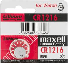 Maxell CR1216 3 Volt Lithium Coin Battery