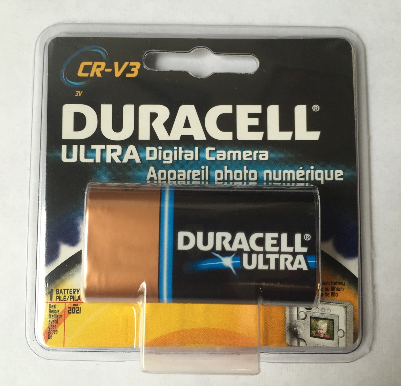 Duracell Ultra CR-V3 3V Photo Lithium Digital Camera Battery 5HXG5 - 1 Pack  + FREE SHIPPING