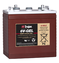 Trojan Gel Deep Cycle  Battery 6V 189Ah Group Size GC2