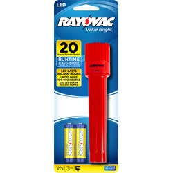 Rayovac Value Bright LED 2AA Plastic Flashlight - Batteries Included + FREE SHIPPING!