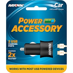 Rayovac Dual Port Universal USB Car Charger PS70 + FREE SHIPPING!