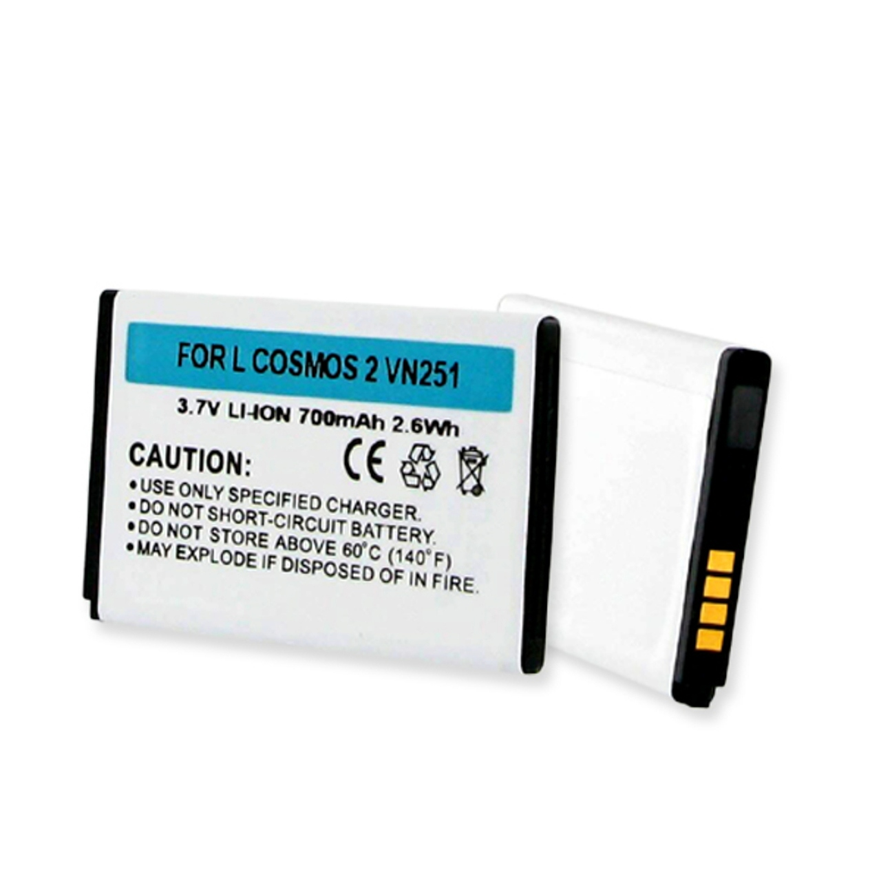 LG COSMOS 2 VN251 LI-ION 700mAh CELLULAR BATTERY + FREE SHIPPING