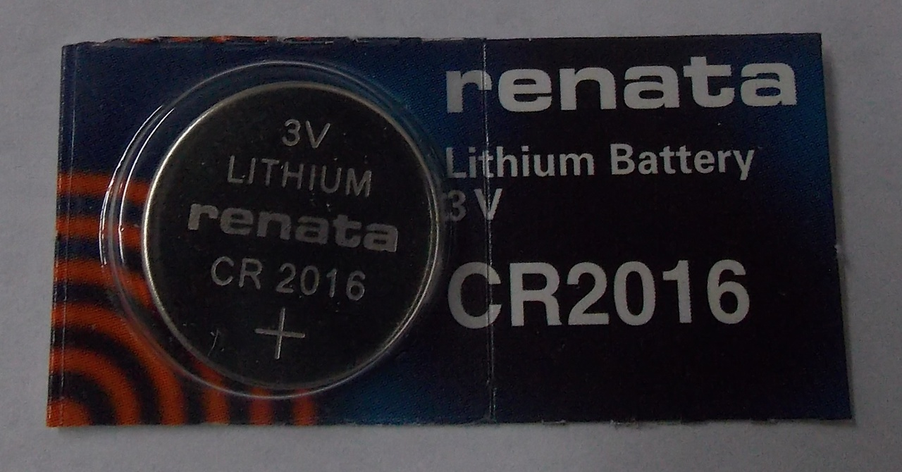 Renata CR2016 3V Lithium Coin Battery