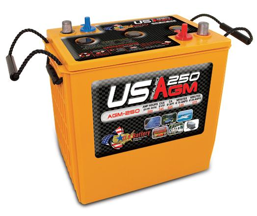 Deep Cycle AGM 260AH 6  Volt Battery