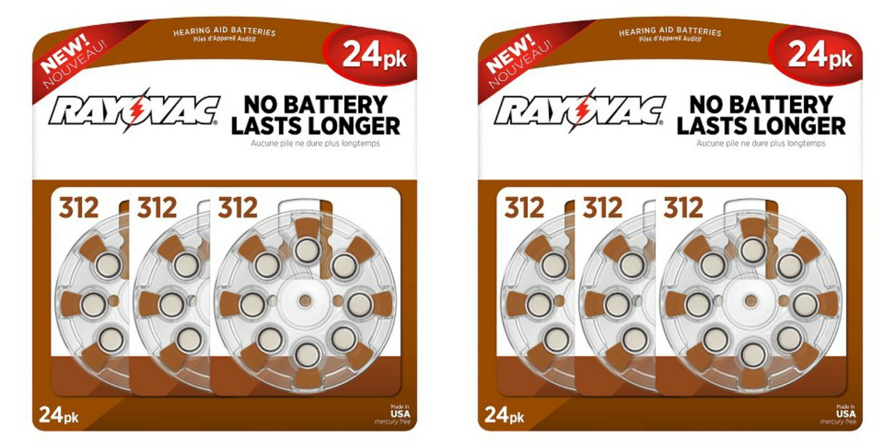 Rayovac Hearing Aid Batteries Size 312 - 48 Batteries + FREE SHIPPING!