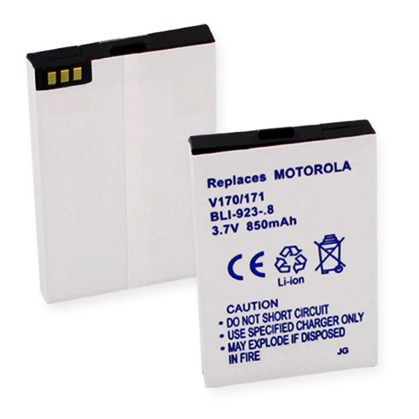 MOTOROLA V170/171 L-ION 850mAh CELLULAR BATTERY + FREE SHIPPING
