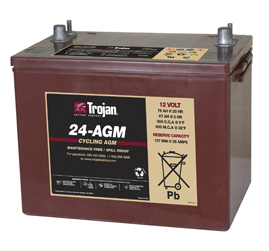 Trojan AGM Cycling Battery 12V 76Ah Group Size 24