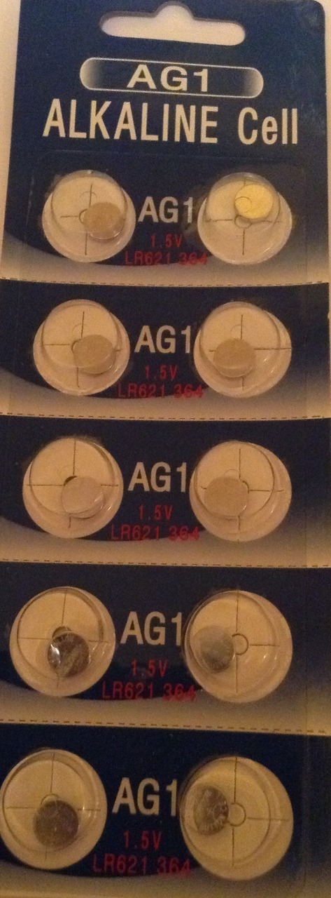 AG1 / LR621 Alkaline Button Watch Battery 1.5V - 500 Pack - FREE SHIPPING!