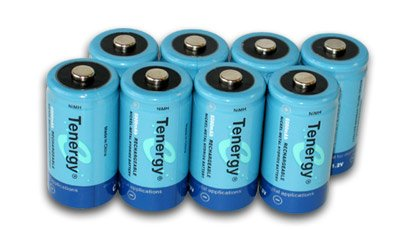 Tenergy 8 Pcs C Size 5000mAh High Capacity High Rate NiMH Rechargeable Batteries + FREE SHIPPING!