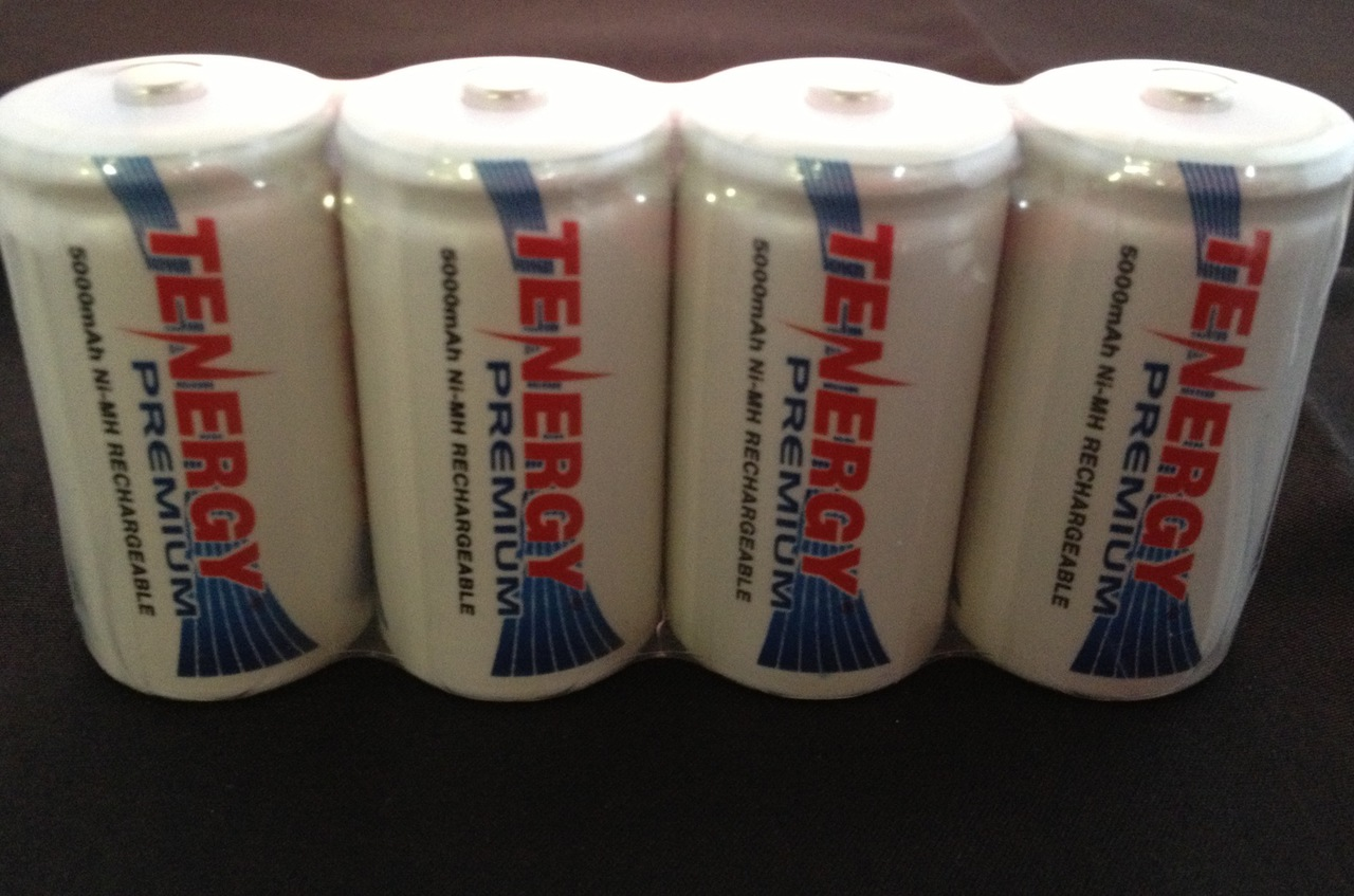 Tenergy Premium C NiMH 5000mAh MAh Rechargeable Batteries - 8 Pack + FREE SHIPPING!