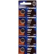 Renata 357/303 - SR44 Silver Oxide Button Battery 1.55V - 5 Pack + FREE SHIPPING!