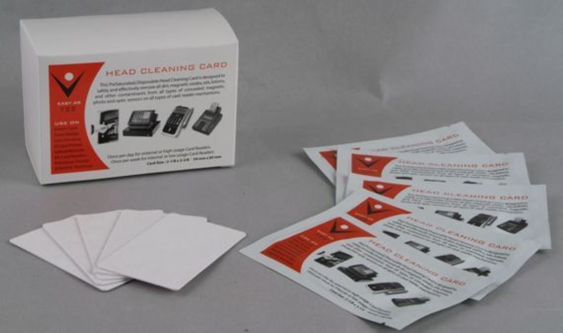 CR80 Magnetic Card Reader And Keyless Lock Cleaning Cards - 200 Pack + Free Shipping
