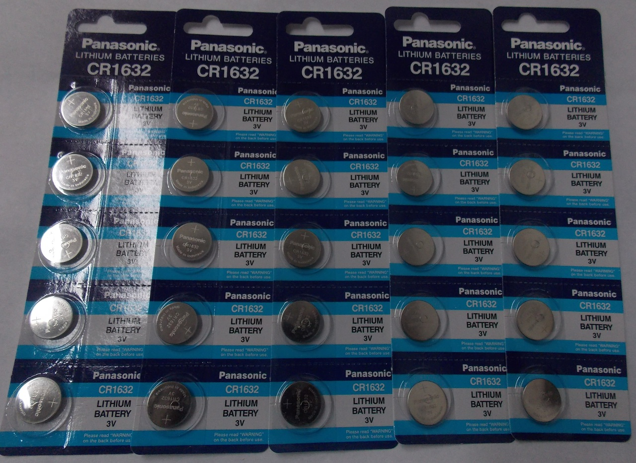 Panasonic CR1632 3V Lithium Coin Battery - 25 Pack + FREE SHIPPING!
