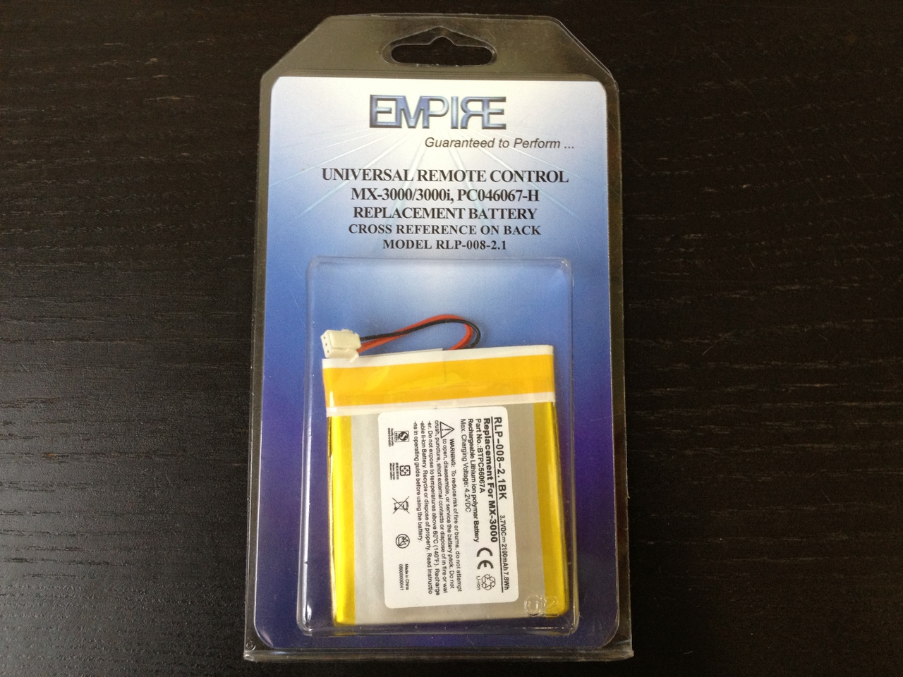 UNIV. REMOTE MX3000 LI-POL 2100mAh Remote Control Battery