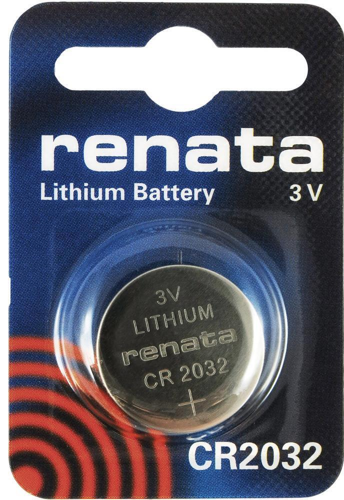 Renata CR2032 3V Lithium Coin Battery On Mini Blister Pack
