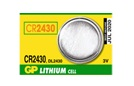 GP CR2430 3V Lithium Coin Battery - 100 Pack + FREE SHIPPING
