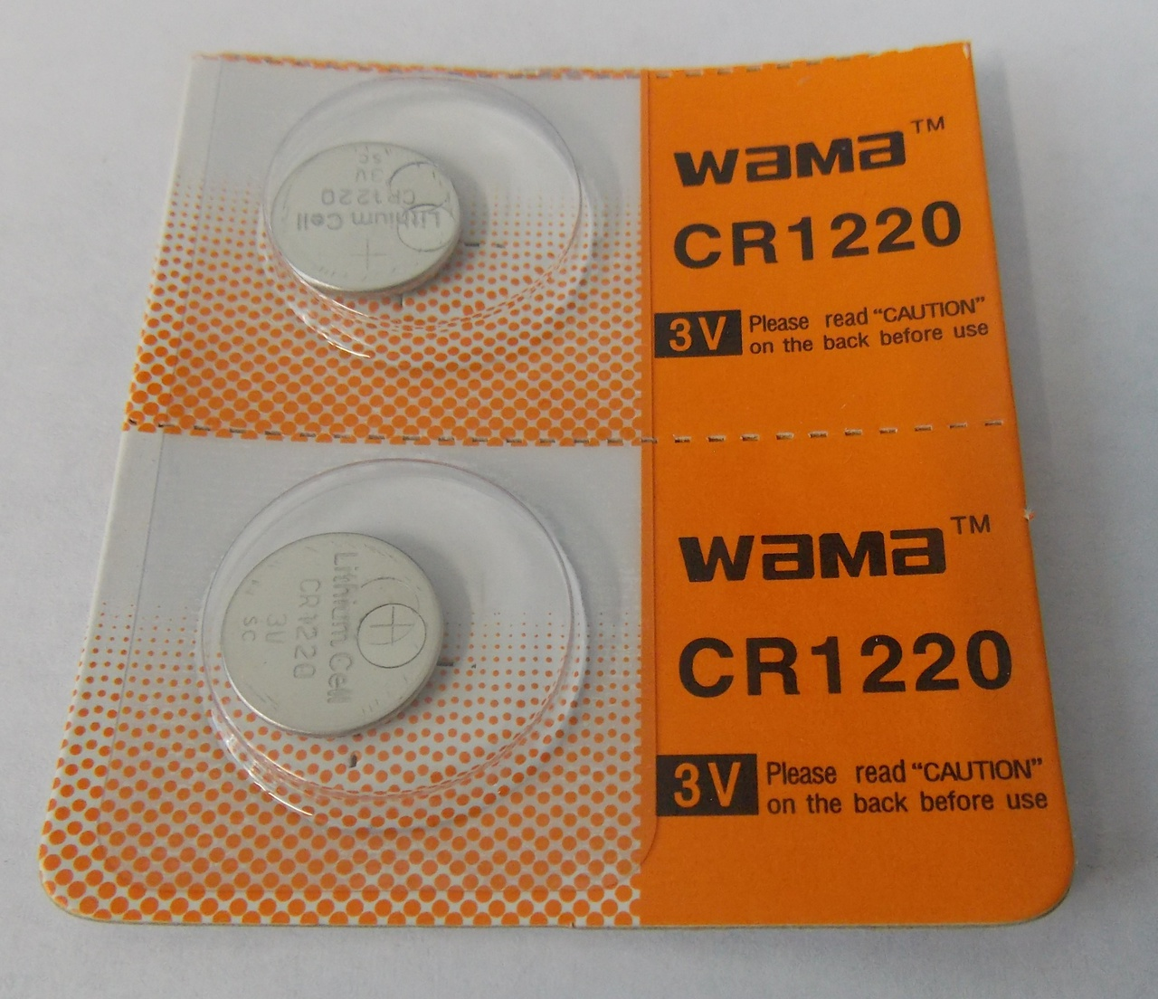 BBW CR1220 3V Lithium Coin Battery  2 Pack -  FREE SHIPPING!