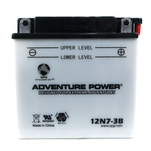 12N7-3B 12 Volt 7 Amp Hrs Conventional Power Sport Battery
