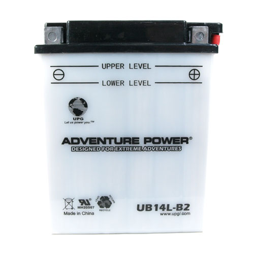 YB14L-B2 12 Volt 14 Amp Hrs Conventional Power Sport Battery
