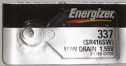 Energizer 337 - SR416 Silver Oxide Button Battery 1.55V